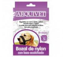 Bozal de nylon con lazo acolchado para perros 18-23 s