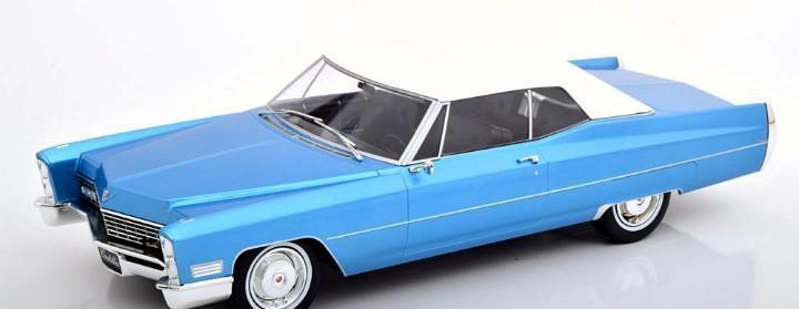 Cadillac deville soft top 1967 escala 1/18 de kk-scale