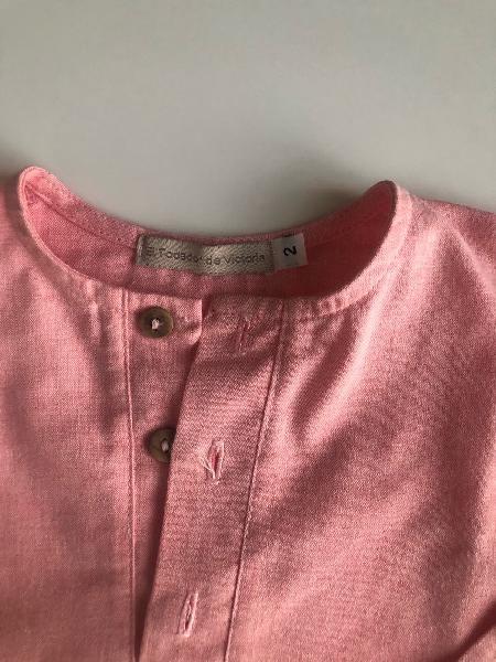 Camisa niño coral