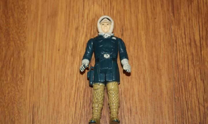 Figura acción vintage star wars kenner han solo hoth 1980