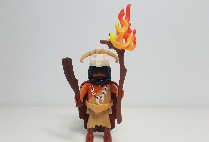 Hombre cavernicola playmobil prehistorico canibal hechicero