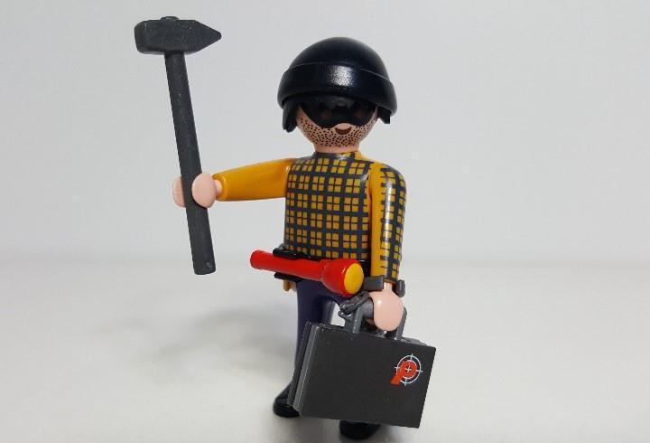 Hombre ladron playmobil delincuente atracador robo