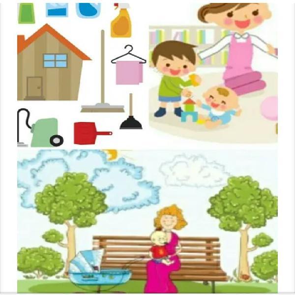 Limpieza de hogar cuidado de niños