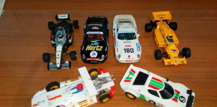 Lote de 6 coches de scalextric segun fotos
