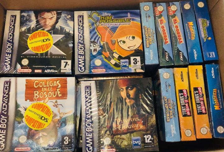 Lote juegos game boy advance precintado