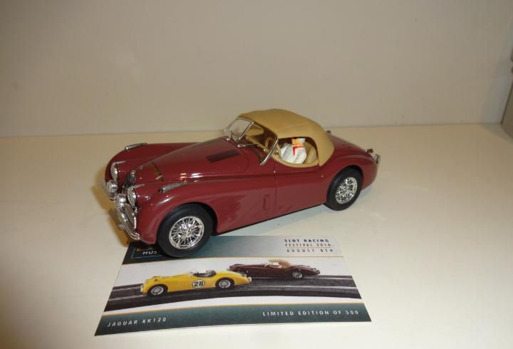Ninco. jaguar xk120 granate. slot racing festival 2010