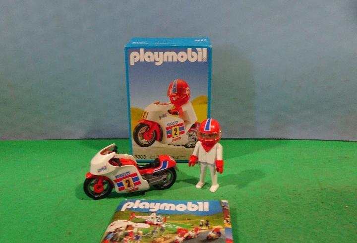 Playmobil-3303-motorista-moto,articulo nuevo