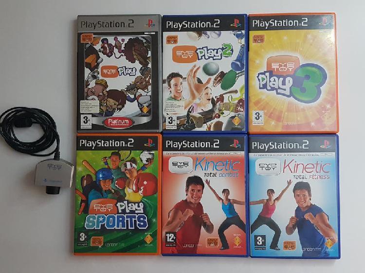Pack 6 juegos eyetoy y cámara play 2 ps2