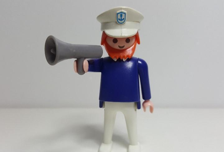Patron barco playmobil 3599 comandante fragata lancha zodiac