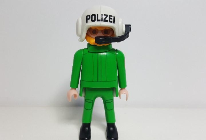 Policia piloto playmobil 3907 helicoptero policial polizei