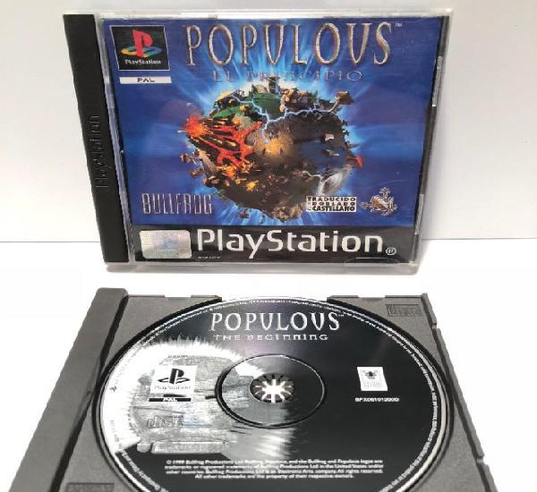 Populous el principio playstation psx ps1 psone