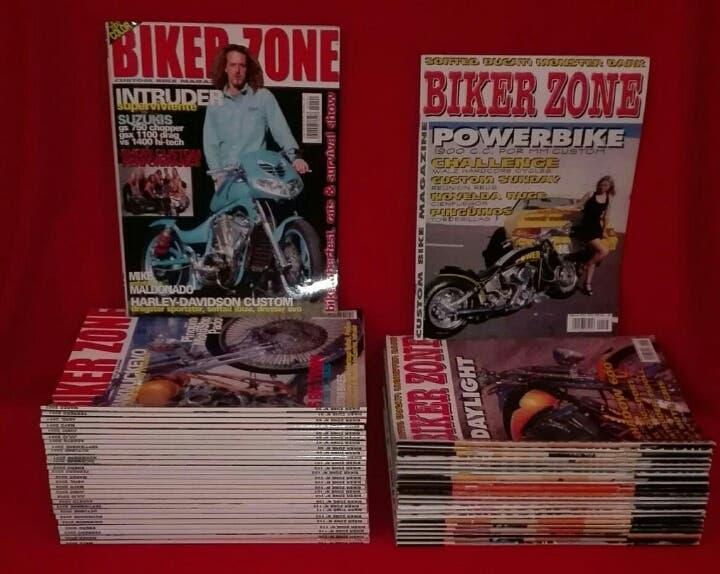 Revistas biker zone 1999 al 2003 descatalogadas