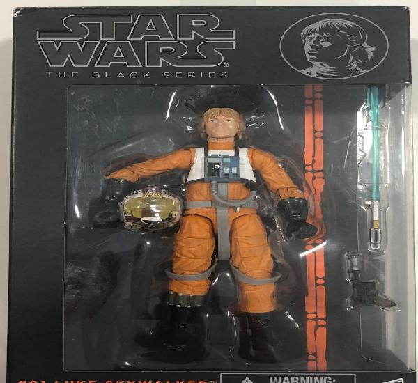 Star wars black series luke skywalker piloto x wing