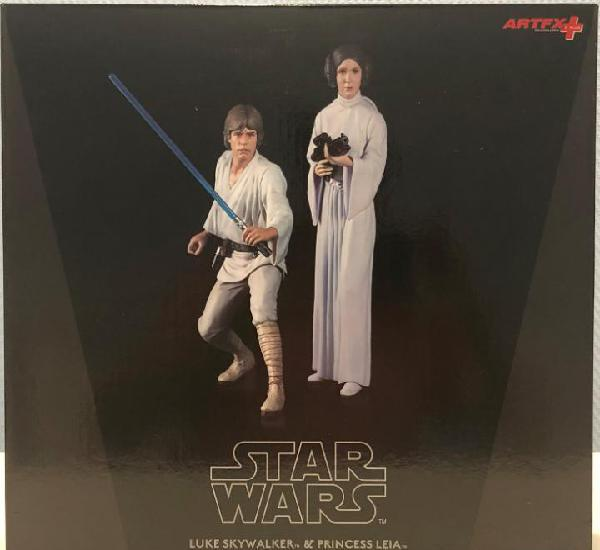 Star wars kotobukiya luke skywalker y leia.