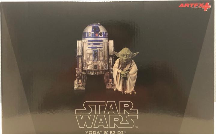 Star wars kotobukiya r2 d2 y yoda.