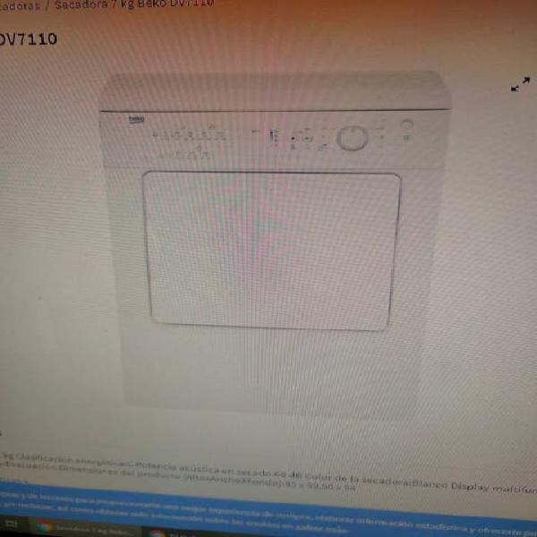 Secadora dv7110 beko
