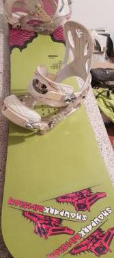 Snowboard bataleon 1'57 y fijaciones burton custom