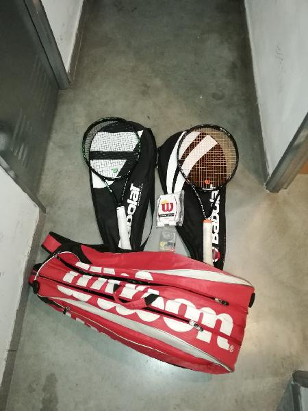 2 raquetas tenis wilson blade, raquetero, accesori
