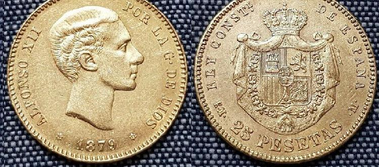 20 pesetas oro alfonso xii (original)