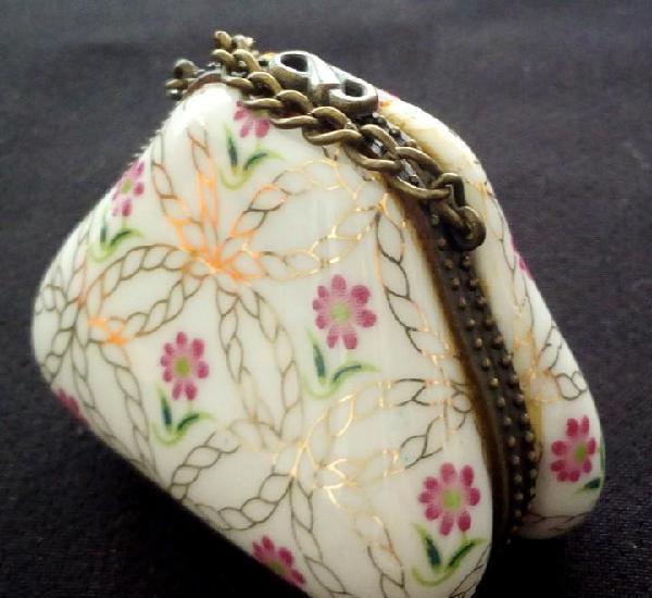 Antigua cajita monedero de porcelana - primera mitad s. xx