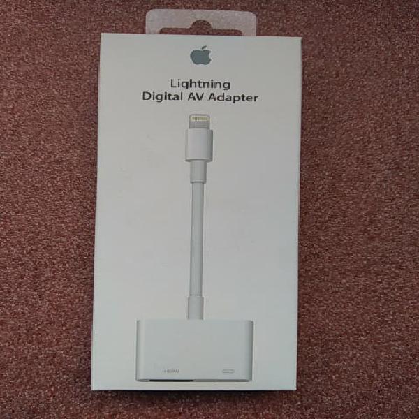 Adaptador lightning a av original de apple