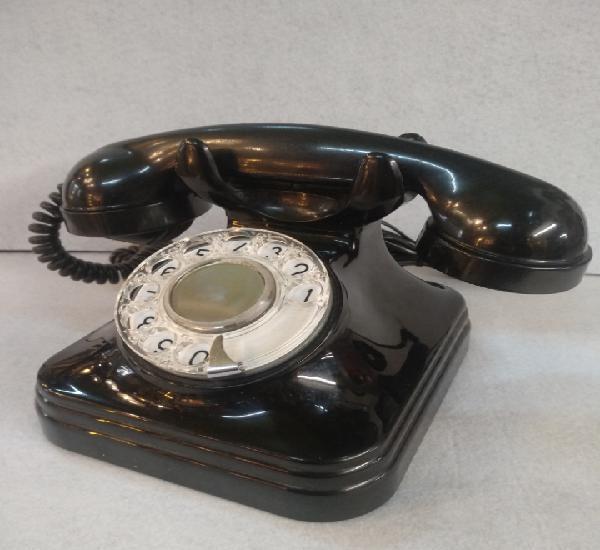 Antiguo teléfono de baquelita, funciona, buen estado
