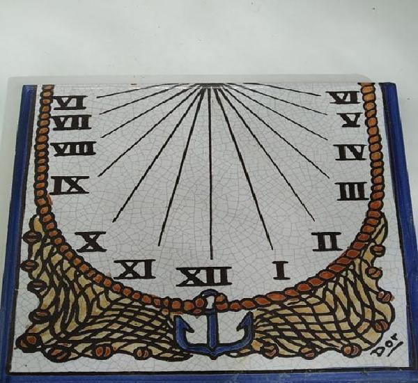 Azulejo ladrillo ceramica reloj de sol ceramica españa