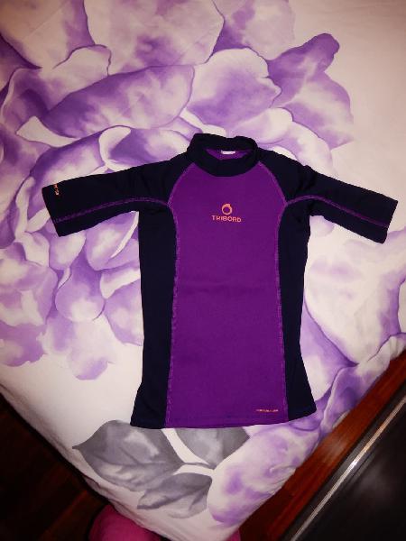Camiseta neopreno niña tribord manga larga t10-12