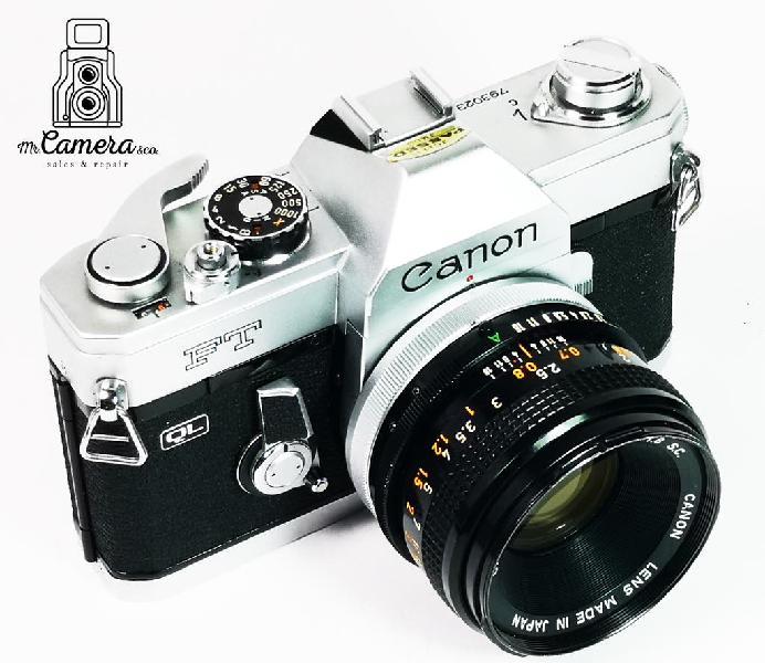 Canon ft ql + 50 como nueva !! + funda cuero