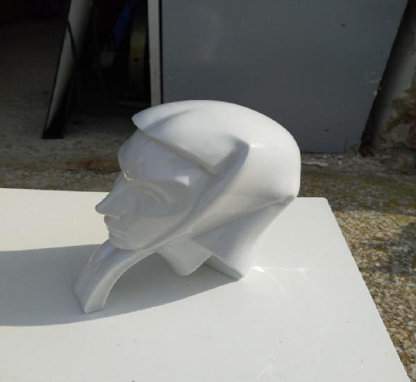 Cara de mujer figura de cerámica porcelana blanca - marca