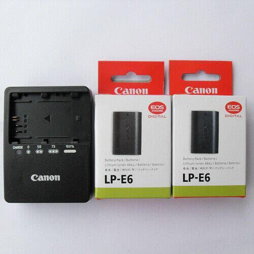 Cargador baterias canon modelo lc-e6e + 1 batería