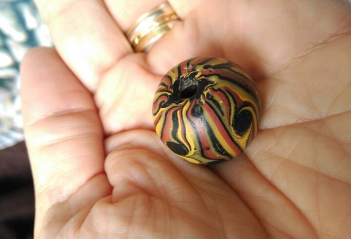 China tibet old dzi beads-10 eyes