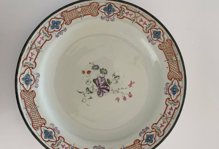 Gran plato compañía de indias siglo xviii o xix diámetro