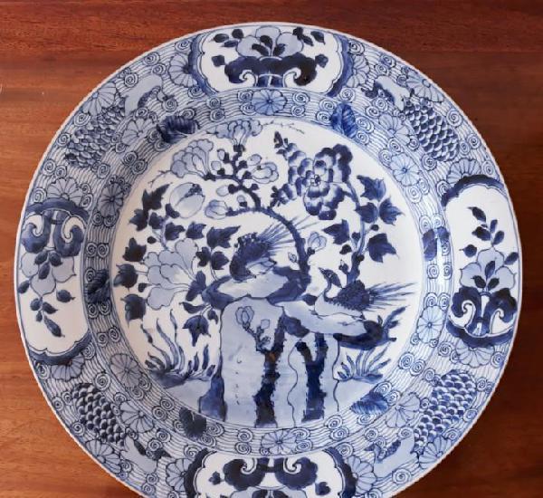Gran plato de porcelana. compañía de indias. época de