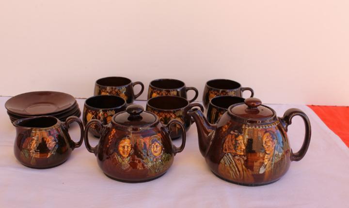 Juego de te en ceramica inglesa kingsware royal doulton