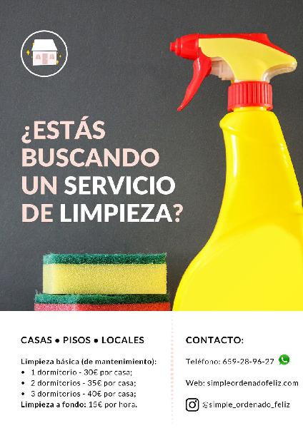 Limpieza doméstica desde 30 euros/casa