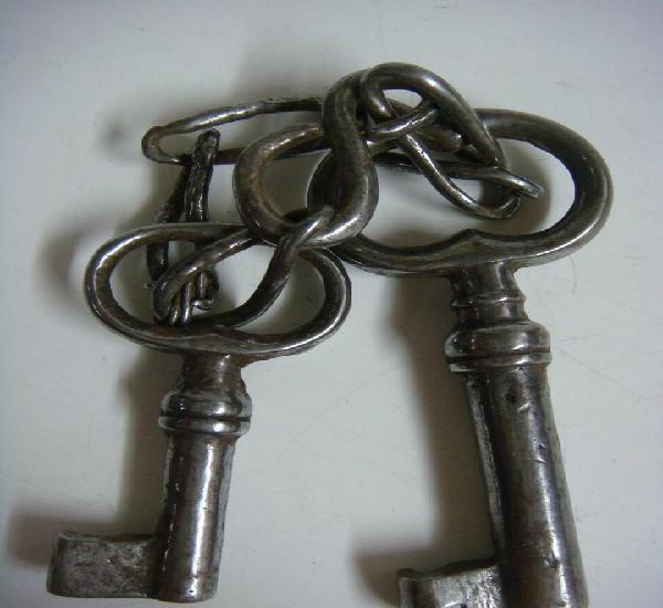 Llaves juego de 2 llaves antiguas