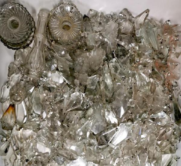Lote 840 lágrimas de lámpara antigua cristal antiguo
