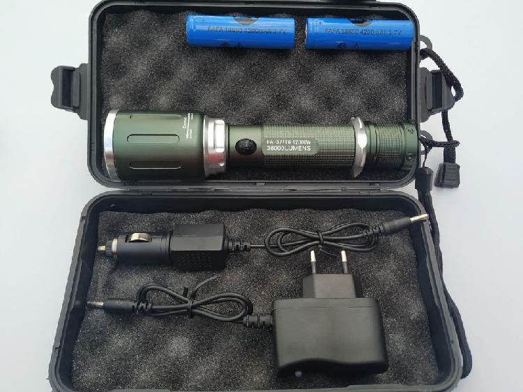 Linterna led de gran alcance xm-l t6 2000 lumenes
