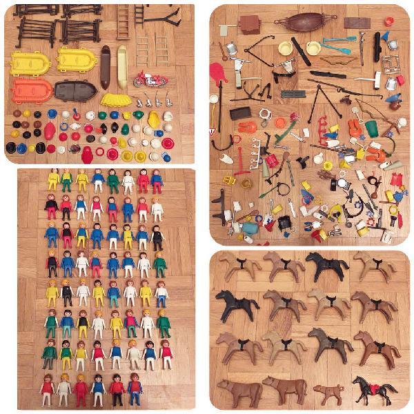 Lote famobil de 62 figuras, animales y accesorios