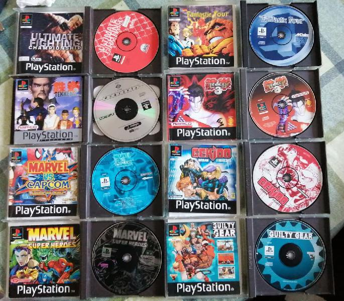Lote pack juegos pal esp completos ps1 psx psone