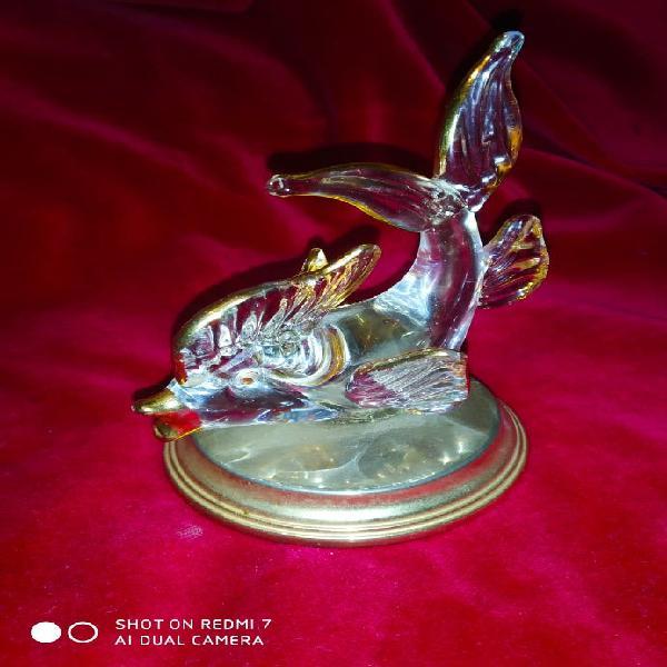Pez en cristal murano y oro 24k