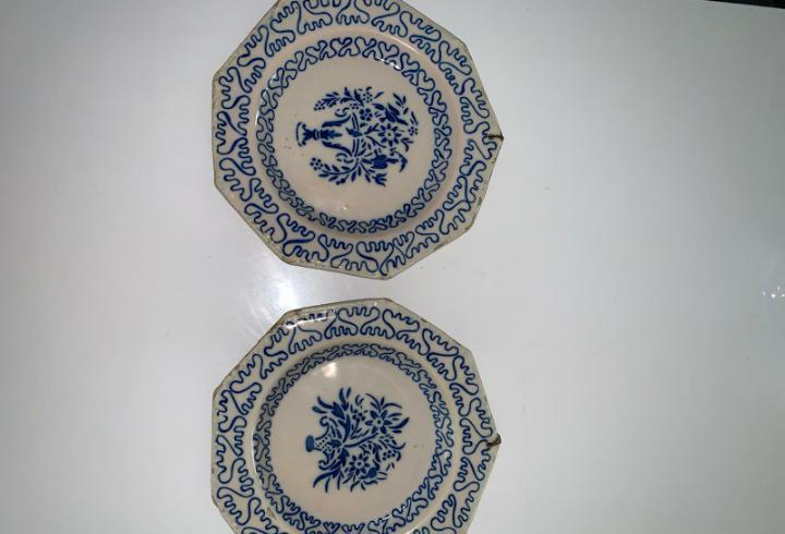 Pareja de platos de manises siglo xix diametro 21 cm