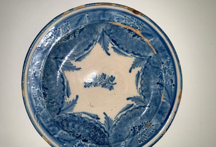 Plato manises siglo xix diametro 31 cm