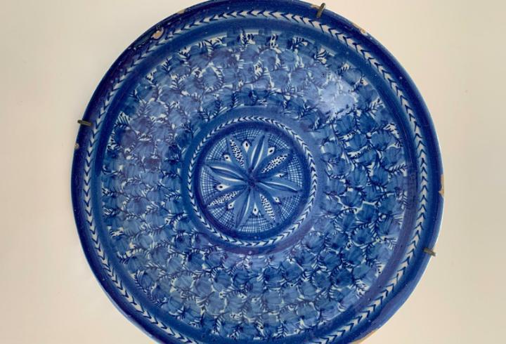 Plato de manises siglo xix diametro 31 cm