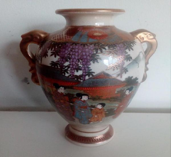 Tarro 16cm satsuma japon florero porcelana antique vase jar