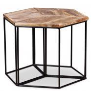 Vidaxl mesa de centro madera mango maciza 48x48x40 cm