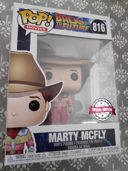Figura funko pop marty mcfly cowboy regreso futuro