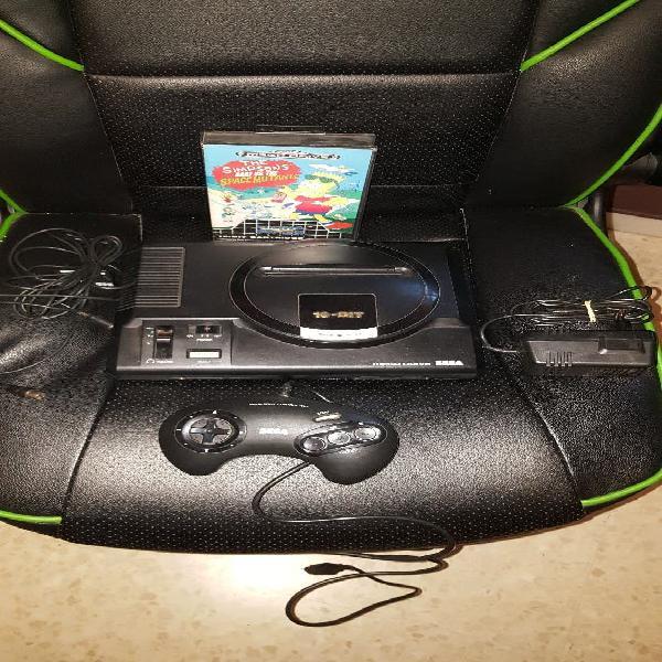 Sega megadrive con un juego