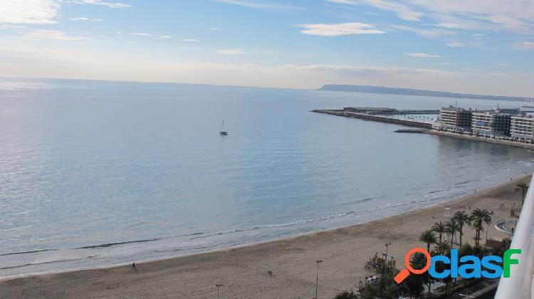 Atico frente al mar -espectaculares vistas - a 100 metros de la playa del postiguet.